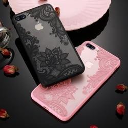 Чехол KISSCASE с кружевными цветами для iPhone 6, 6S, 7, 8 Plus, 5, 6, SE, Жесткий Чехол из поликарбоната для телефона iPhone 11 Pro, Max, X, XS, XR, чехол