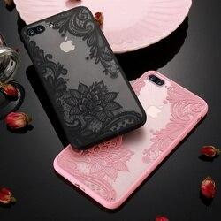 Чехол для телефона KISSCASE для iPhone 11 12 Pro Max XS XR, роскошный чехол с кружевными цветами для iPhone X XS 5 5S SE 6 6S 7 8 Plus Fundas Coque