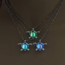 Fashion Silver Sea Turtle Pendant Necklace Charm Glowing Necklace Cute