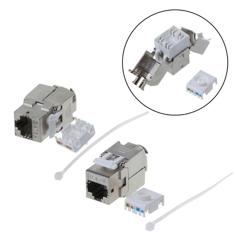 1 Stück Rj45 Keystone Cat6 Geschirmt Ftp Zink-legierung Modul Keystone Jack Netzwerk Anschluss Adapter Neue SchüTtelfrost Und Schmerzen