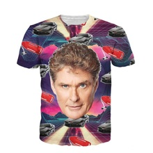Newest 2017 Fashion Men Women 3D T Shirt David Hasselhoff T-Shirt 80s The Infamous Baywatch Hero Tops Tees Dropship S-5XL R2427