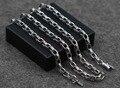 5 мм кулон с цепочкой ожерелье квадратные пряжки 100% стерлингового серебра 925 ожерелье для женщин и мужчин 925 ювелирные изделия