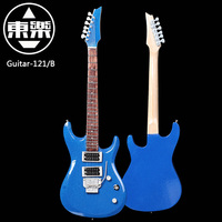 Wooden Handcrafted Miniature Guitar Model guitar 121/Blue Guitar Display with Case and Stand ( for Display Only!)