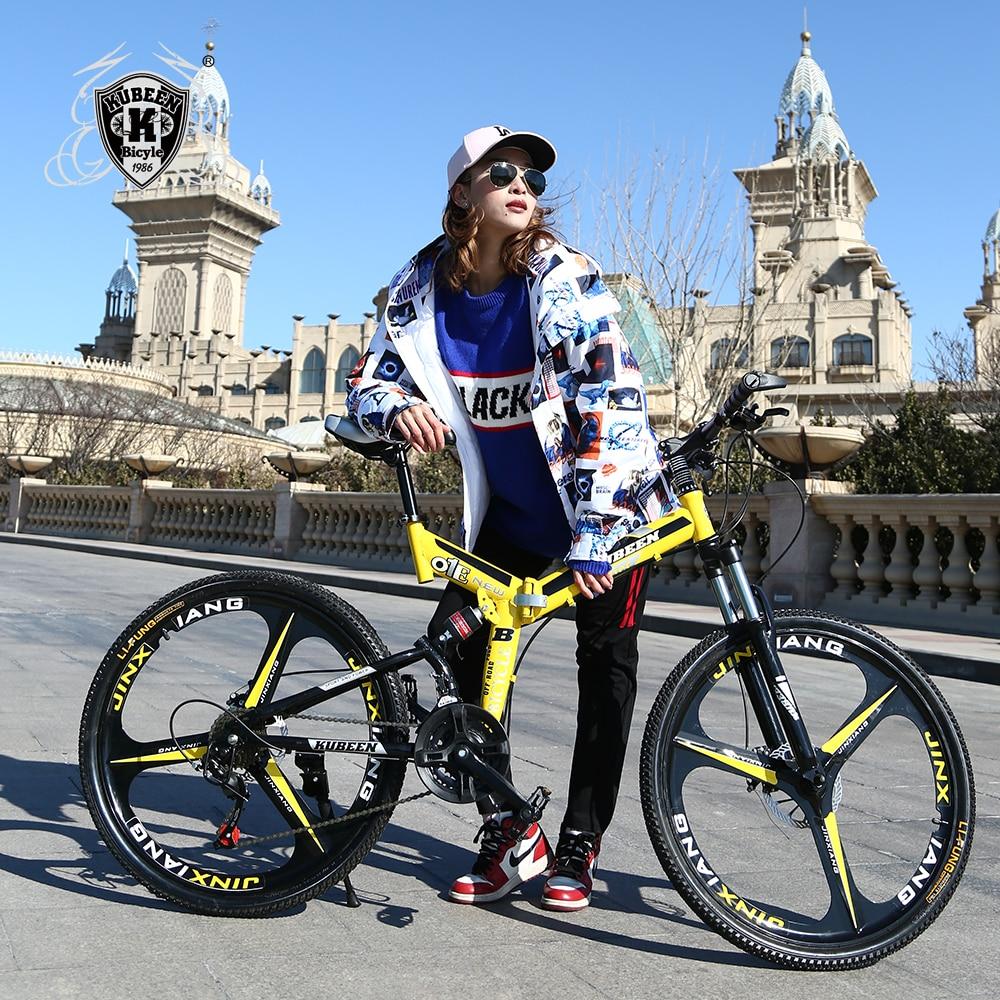 KUBEEN mountain bike 21 26-polegada de aço-velocidade bicicletas bicicletas de corrida de estrada de velocidade variável freios a disco duplo bicicleta bicicleta BMX