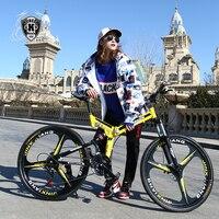 KUBEEN mountain bike 26 inch steel 21 speed bicycles dual disc brakes variable speed road bikes racing bicycle BMX Bike