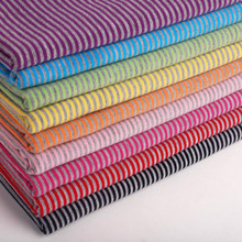 New arrival DIY fabric 2mm striped cotton stretchy fabric DIY sewing fashion clothing making cotton knitted fabric