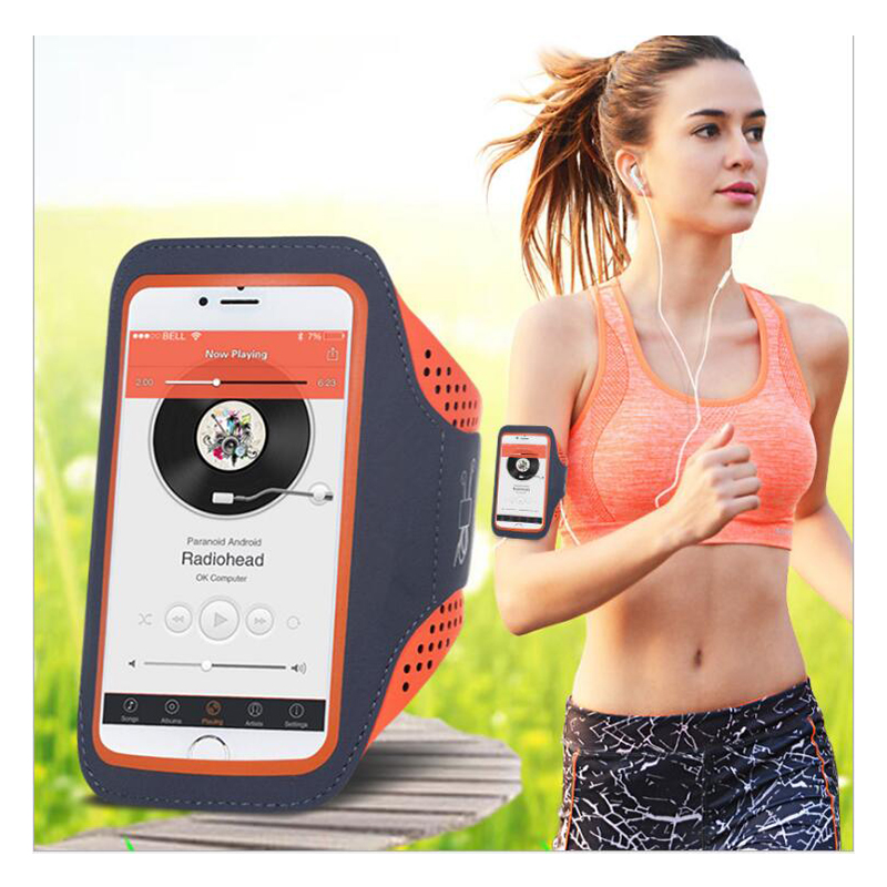 5.5'' Waterproof Sports Jogging Gym Armband Running Bag Touch Screen Cell Phone Arm Wrist Band Hand Mobile Phone Case Holder