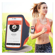 5,5 ''Wasserdichte Sport Jogging Gym Lauf Touchscreen Handy Arm Handgelenk Band Hand Handy Fall halter(China)