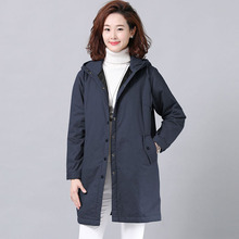 2019 New Womens Cotton Coat Long Section Thickening Parkers Quilted Warm Windbreaker Jacket Korean Loose Female Clothing