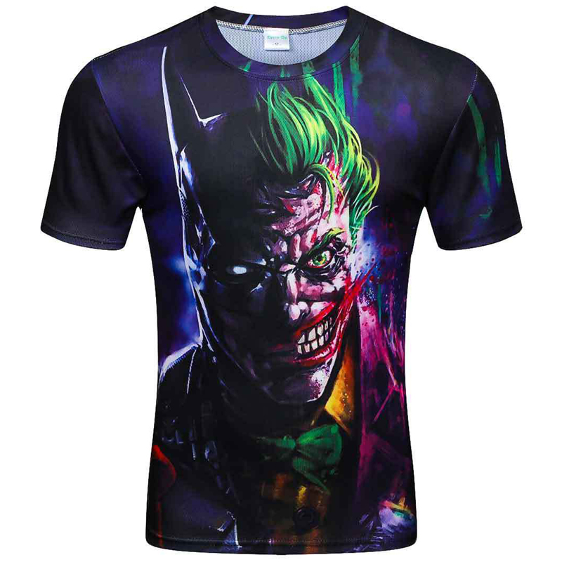 3d t shirt male 2019 men Poker Printing Men Short Sleeve 3D T Shirt Casual T-shirt Plus Size tees top
