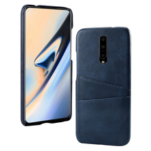 Luxury PU Leather Card Holder Slots Phone Case For OnePlus 7 6T 5G Slim Hard PC Hybrid Cover For OnePlus 7 Pro
