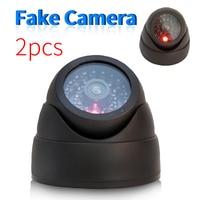 2 Pcs Set Surveillance Security Fake Camera Indoor Home Resturant Outdoor Waterproof CCTV Dome Dummy Cameras