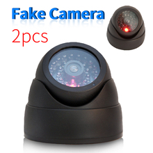 2 Pcs/Set  Surveillance Security Fake Camera Indoor Home Resturant Outdoor Waterproof CCTV Dome Dummy Cameras Shaped Decoy Video