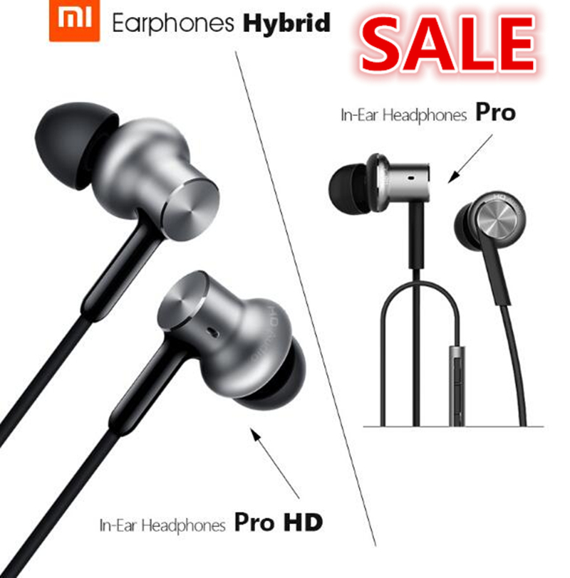 100% original Xiaomi Mi In-Ear Earphone Pro HD Circle Iron Wired Xiaomi Auriculares con cancelación de ruido Xiaomi Hybrid Pro HD para auriculares
