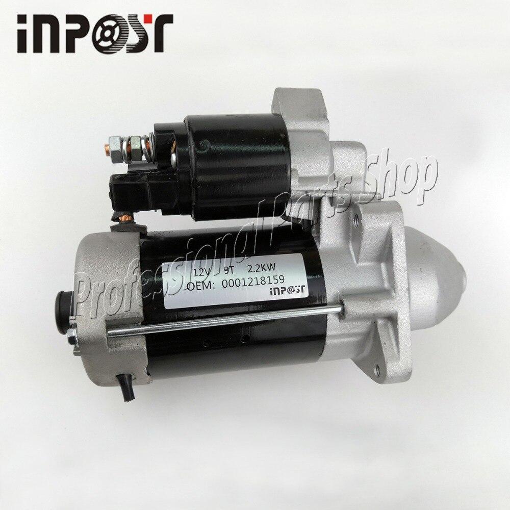 Nuevo arrancador 2.2KW para Motor FIAT 0001218159 0986017020 0001218759