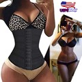 Women's Hourglass Waist Trainer Long Torso Body Shaper Slimming Corsets Weight Loss Fitness Belt Tummy Fat Burn Girdle