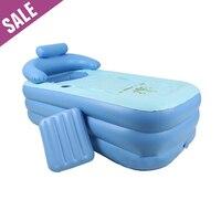 Portable PVC Adult Warm Spa Foldable Inflatable Bathtub Safe Eco friendly Non toxic Thick Bath Tub 160 x 84 x 64cm Fast Shipping