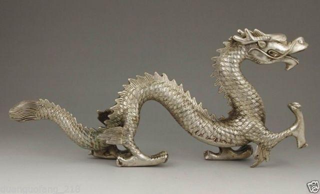 Izraditi kineski stari kolekcionarni tibetanski srebrni bakreni - Kućni dekor - Foto 2