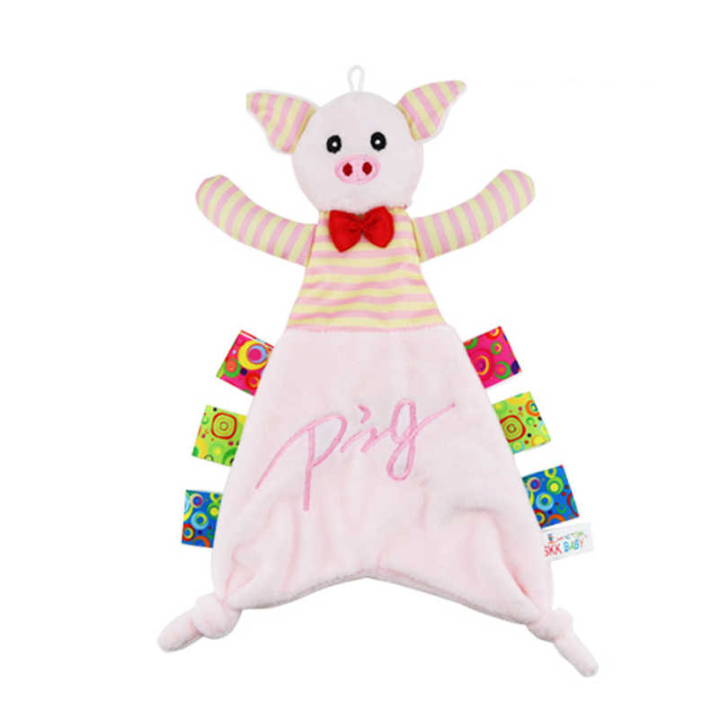 Baby Plush Appease ผ้าขนหนูนุ่มหมูกระต่าย Panda สัตว์ของเล่นผ้าทารกแรกเกิดหุ่นริบบิ้นเด็กสาวของขวัญเรียนรู้ของเล่น