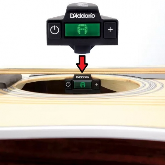 D'addario Planet Waves PW-CT-15 NS Micro Soundhole Osynlig Kromatisk Tuner