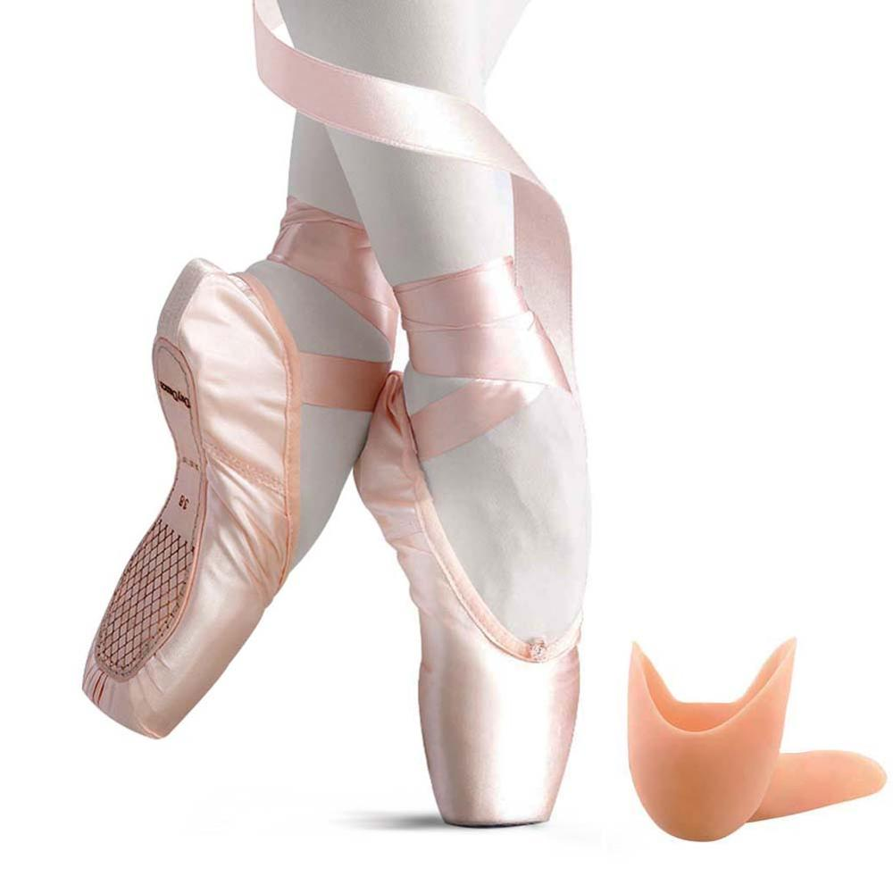 a9fcb07d399dd US $26.73 19% OFF Kids Pointe Shoes Stain Canvas Ballet Shoe Girls' Flat  Split Sole For Girls With Toe Pads on Aliexpress.com   Alibaba Group