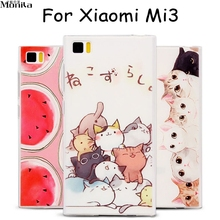 For Xiaomi 3 Case 3D Fruit Cute Cartoon Ultra Thin Soft TPU Case for Xiaomi Mi3 MI 3 Silicone Back Cover Girl Case Monila(China)