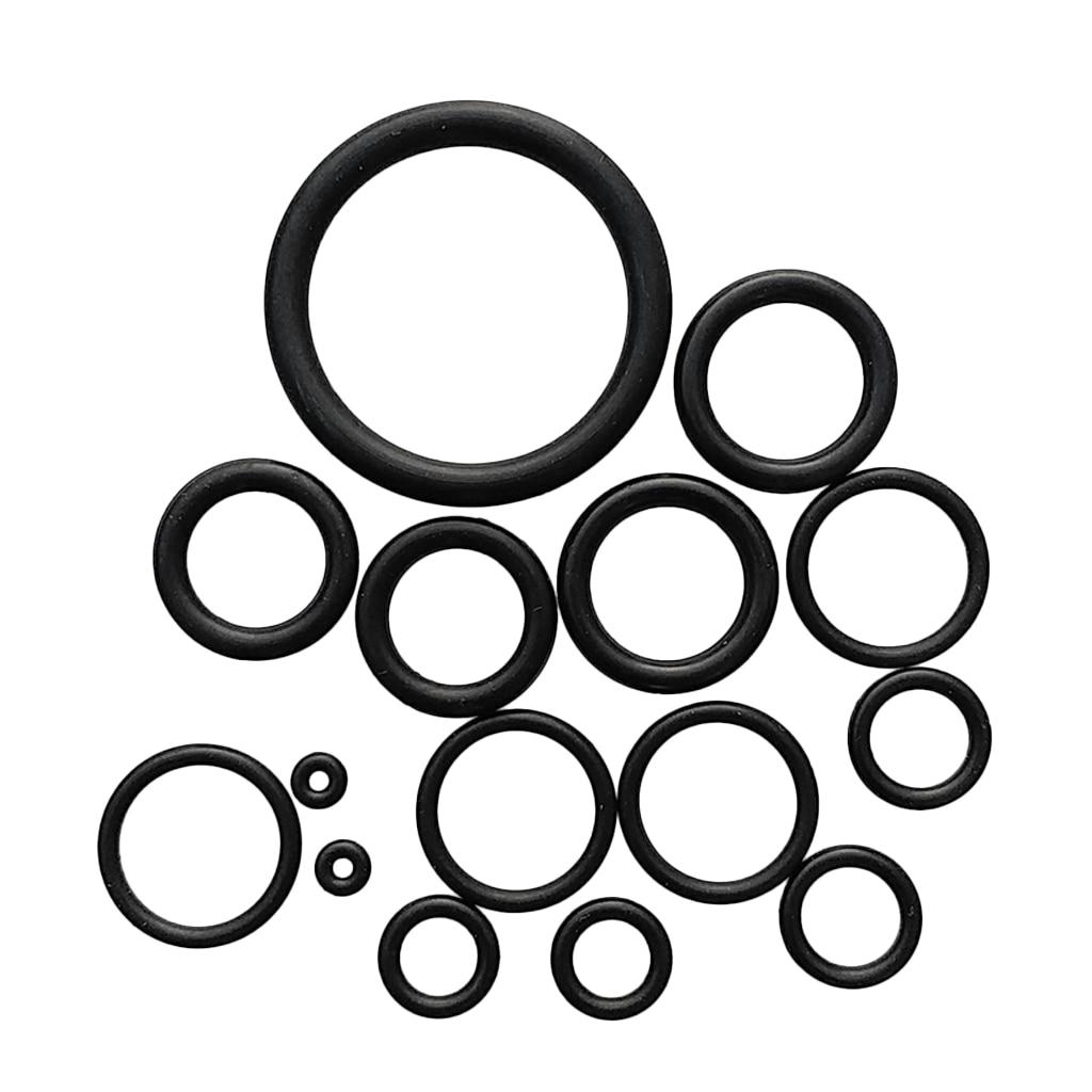 15 Pieces Rubber O Ring Kit & Case For Scuba Diving BCD Tank Hose Regulator