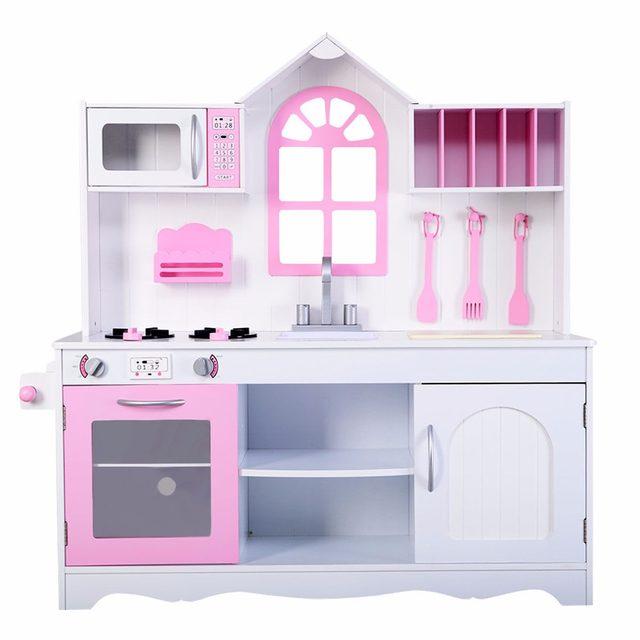 Online Shop Goplus Kids Wood Kitchen Toy Cooking Pretend Play Set ...