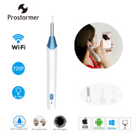 Prostormer Wifi Ear Spoon Endoscope 5.5mm Integrated Wireless Medical Safe Ear Canal Mirror Iphone Android Otoscope Camera 30