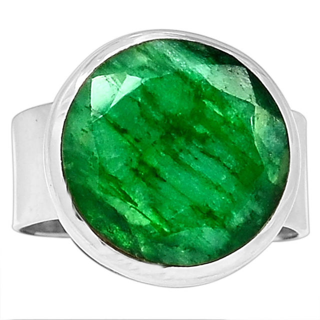 Hand Made Emerald Ring 100 925 Sterling Silver Size 6 75 AAR057
