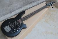Matte Black 9V Battery Active Pickups Music Man Bongo 5 Strings Electric Bass Guitar Musicman Free Shipping