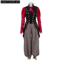 Alice Cosplay Costume Alice in Wonderland 2:Through the Looking Glass Woman Dress Party Halloween Suit Red Shirt+Vest+Pants