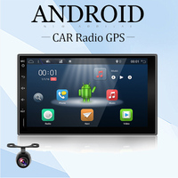 Car Electronic Auto 2Din Android 7.1 Car DVD player Stereo GPS Navigation WIFI+Bluetooth+Radio+Quad 4 Core CPU+3G+TV RDS Camera