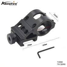 1pc T2008 20mm rail Aluminum Alloy tactics Barrel Laser scope mount Picatinny Weaver Mount / Flashlight Mount with Hex Wrench 11mm dual aluminum alloy bracket flashlight and laser gun mount with hex wrench black