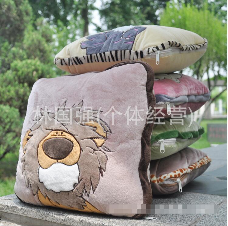 Candice guo peluche peluche poupée mignon animal anime dessin animé lion tigre koala mouton sommeil oreiller coussin couverture couette 1 pc