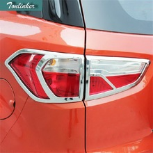 2-4PCS Car NEW ABS Chrome front headlight and rear decorative frame light box cover for Ford Ecosport parts accessorie