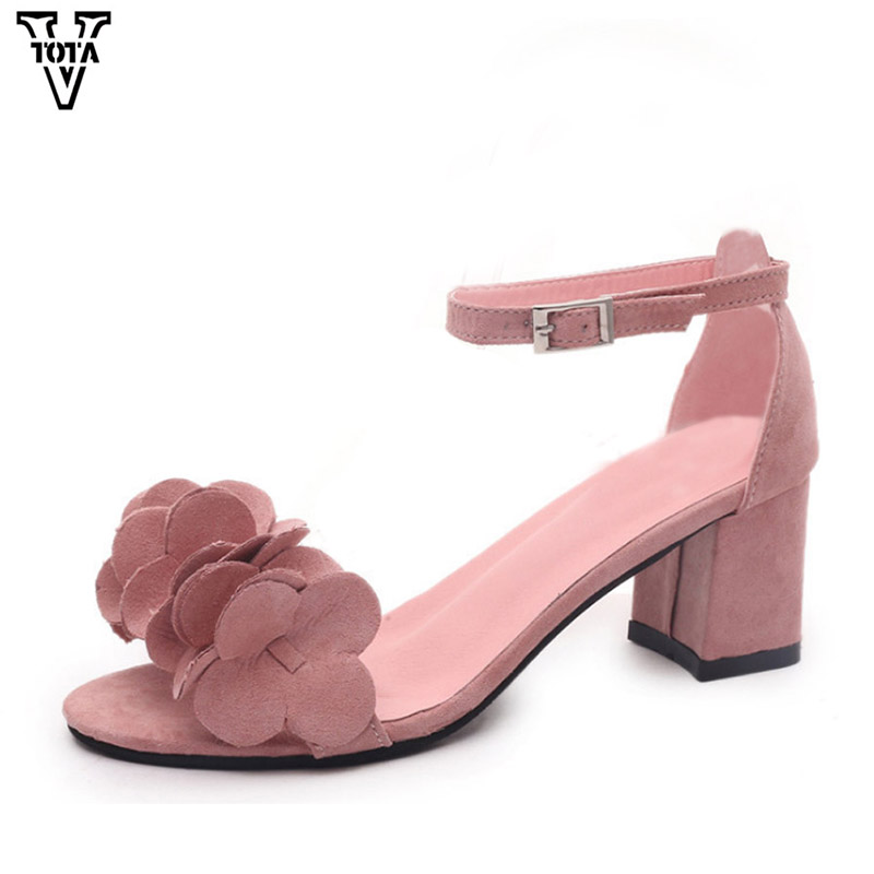 VTOTA New Summer Women Sandals Ankle Strap Heels Shoes Woman Open Toe Women Shoes Gladiator High Heels Party Dress Sandals FC plus size 34 43 new summer shoes woman open toe women ankle strap wedges sandals casual low heel sandals women sandals
