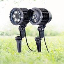 цена 6x1W Outdoor Garden Landscape Light 220V 110V 12V LED Lawn Lamp Waterproof Lighting Led  Garden Path Spotlights led spike Light