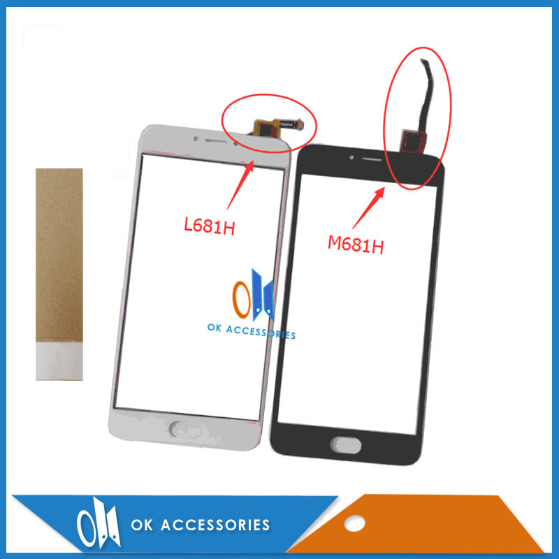 Black White Color For Meizu M3 Note L681H M681H Touch Screen Digitizer Screen Touch Panel With Tape 1PC/Lot