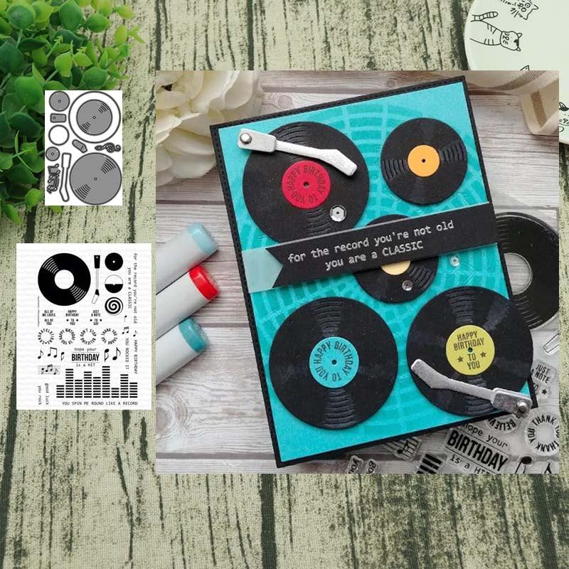 Phonograph Metal Cutting Dies Stamps Stencil For DIY Scrapbooking Photo Album Embossing Decorative Craft Die