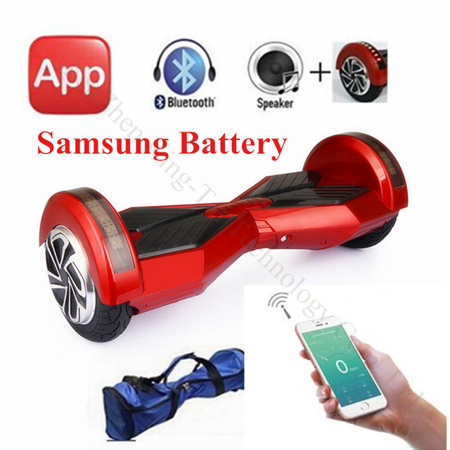 8 Hoverboard Smart Balance Scooter Bluetooth Electric Hover Board Drifting With Led Light Multicolor