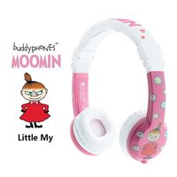 ONANOFF BuddyPhones MOOMIN Headphones Kids Safe Volume Limiting Wired Headsets Cartoon Cute Children Earphones With Microphone