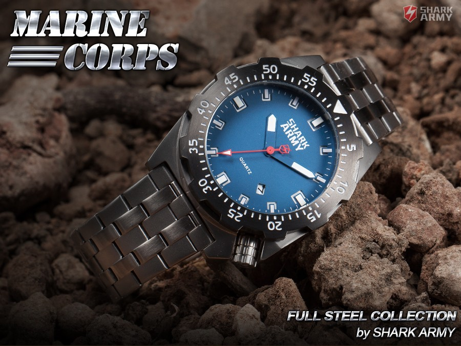Shark Army Top Brand Man Watch Luminous 10ATM Water Resistant Blue Surfing Military Full Steel Quartz Sport Wristwatches /SAW188 11