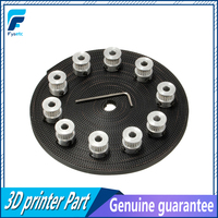 10pcs 20Teeth GT2 Timing Pulley Bore 5mm 10m 33ft 2GT GT2 Timing Belt 6mm Wide For