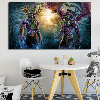 World Of Warcrafts Illidan And Malfurion Stormrage HD Canvas Posters Prints Wall Art Painting Decorative Picture Home Decoration image