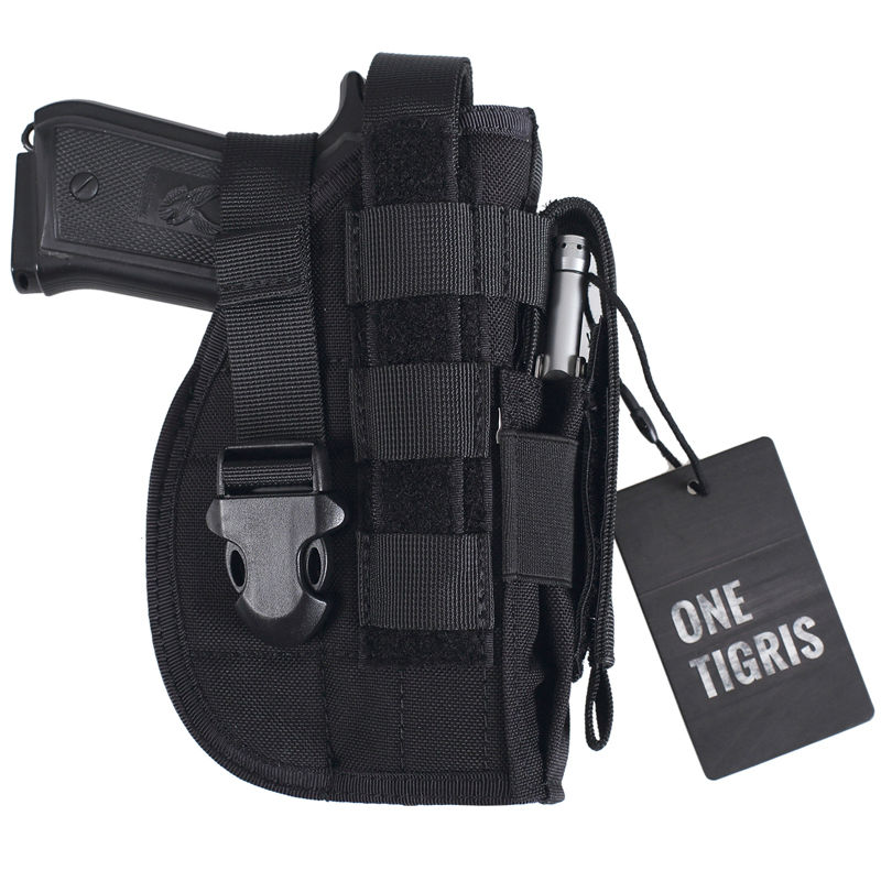 OneTigris Tactical Gun Holster Molle Modular Pistol Holster for Right Handed Shooters 1911 45 92 96 Glock blackhawk tactical gun holster level 3 holster glock with flashlight pistol holster