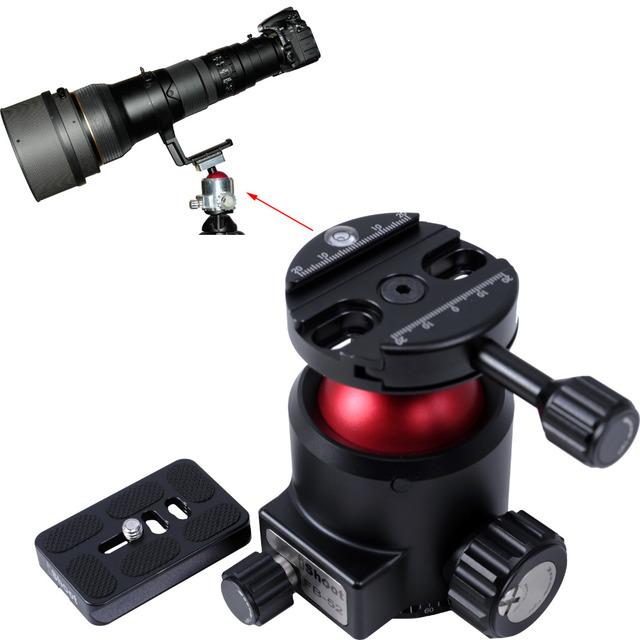 Pesado - esfera de carga cabeça forte Ballhead + Camera prato de liberação rápida com panorâmica Panorama Panning Base max. Carga 30 KG para tripé