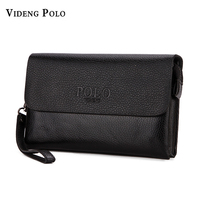 VIDENG POLO Men Business Leisure Large Capacity Change Soft Leather Fashion Wallet Phone Wallet Man S