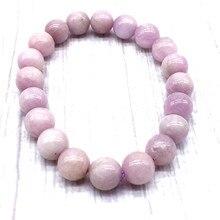 Nature Kunzites Stone Women Men Bracelet 100% Really Purple Color Not Synthetic Violet Beads
