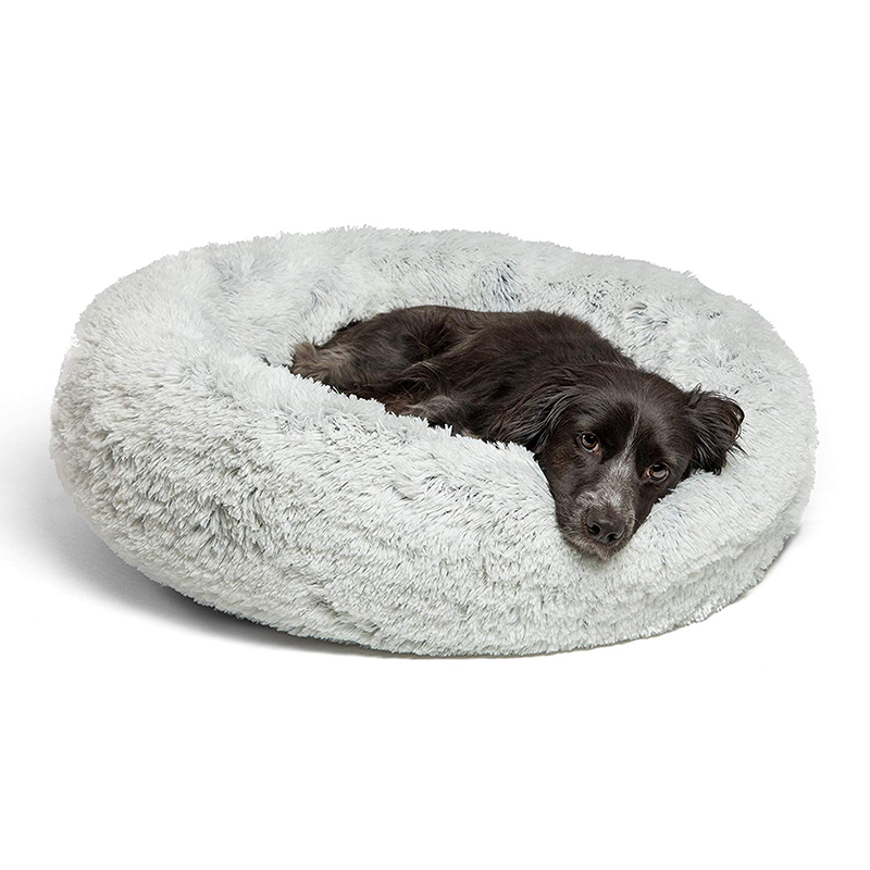 Warm Fleece Dog Bed 7 Sizes Round Pet Lounger Cushion For Small Medium Large Dogs & Cat Winter Dog Kennel Puppy Mat Pet Bed calming bed for dogs
